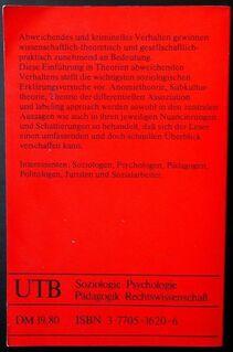 Theorien abweichenden Verhaltens - Unitaschenbuch - Niederfischbach