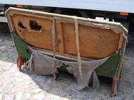 Jugendstil Couch in Nussbaum / Sofa mit Holzgestell zum Restaurieren - Zeuthen