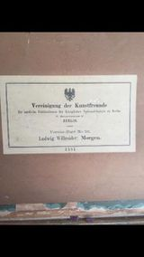 "antiker Kunstdruck ""Morgen ""v.Ludwig Willroider"
