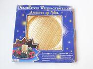 """dekorativer Weihnachtsteller / Teller """"gold"""" 33cm - Weihnachtsdekoration - Andernach"""