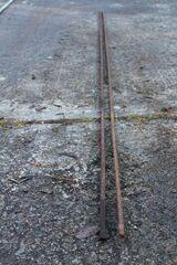 Stahlträger, Eisen, 2 Stück Vierkant; 297 cm lang, Durchmesser 12mm