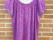 Shirt mit Muster, pink, Größe: 48