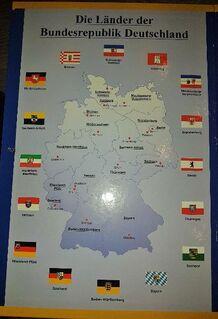 BTN Album-Die Länder der BRD inklusive 4 St. Gedenkprägung Münzen - Verden (Aller)
