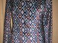 NEU * Edel * schimmernd * Retro- Style * Samt * Hemd- Bluse ''Elements'' Gr. 36- 38/ S * dunkel- hell- himmel- blau * - Riedlingen