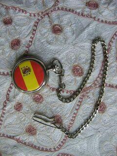 Motiv Taschenuhr von AQUAMAR mit Spanien Flagge - Celle