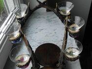 Geweih Abwurfstangen Glas-Halter Schnapsglas-Ständer Deko Retro Vintage 12,- - Flensburg