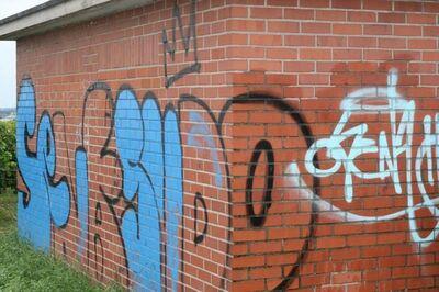 Graffitientfernung von Klinker, Beton und Naturstein - Fuldatal