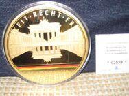 Vergoldete XXXL-Prägung ca. 100 mm Durchmesser - Stolberg (Rheinland, Kupferstadt)