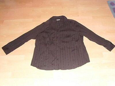Bluse von Canda, langarm, schwarz, Gr. 50/52 - Bad Harzburg Zentrum