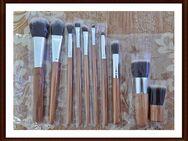 ## Neue Artikel ## Pinselset 10 Teilig mit Braunen Holzgriff - Meiningen
