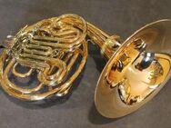 Meister Hans Hoyer 601 GA-L Goldmessing Doppelhorn mit Schraubbecher. NEUWARE - Hagenburg