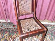 Antiker Stuhl Wiener Korbgeflecht ca. 1900 / Holzstuhl als Restaurationsobjekt - Zeuthen