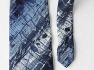 Krawatte, blau-schwarz-weiß meliert, von Romagnoli - Münster