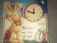 Uhr - Felix Lernbuch m. verstellbarer Uhr und Tierbuch mit Klappen - Baunatal Zentrum