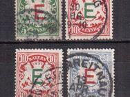 AD-Bayern Dienstmarkern. 1908,MI:DE 1-4,  Lot 596