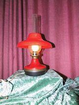 Alte rote Petroleumlampe Elektrisch 70er Jahre / Kult Lampe UDSSR / Vintage