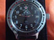 Vintage UdSSR russische Armbanduhr Vostok Komandirskie Automatik mit Glasboden - Nürnberg