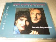 "ANNA MARIA KAUFMANN & BARRY MANILOW ""World In Union"" MAXI-CD-SINGLE 1992 (New!) + Promo-Brochure! - Groß Gerau"