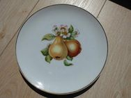 Hutschenreuther Selb Porzellan Teller 20 cm 1 Obstteller Birne mit Goldrand Deko Vintage Retro 3,50 - Flensburg