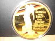 Vergoldete XXL-Prägung ca. 70 mm Durchmesser - Stolberg (Rheinland, Kupferstadt)