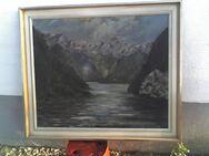 "Bild ""Landschafts-Panorama"" m. Rahmen 70 x 60 cm - Simbach (Inn)"