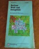 Wanderkarte Berliner Wald- und Seengebiet + Angaben für Wassersport / VEB 1987