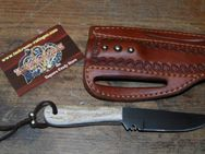"Buckaroo knife mit ""quick draw"" Leather-Sheath K140 - Ratingen"