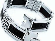 "MunkiMix Edelstahl Gummi Kautschuk Armband schwarz griechisch ""NEU "" - Verden (Aller)"