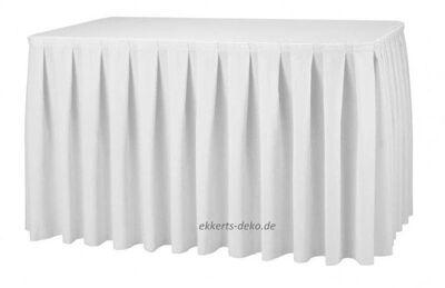 Verleih Tischrock , Skirting, Tischumrand in Weiß. - Marsberg