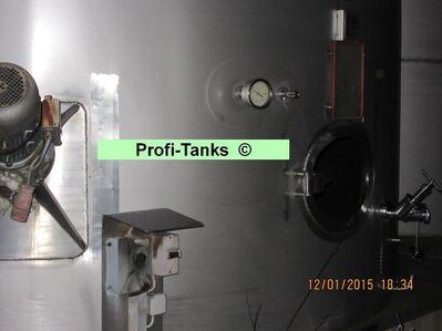 Edelstahltank gebraucht 106.000 L V²A Lebensmitteltank stehend Weintank Molketank Wassertank Rapsöltank Futtermitteltank - Nordhorn