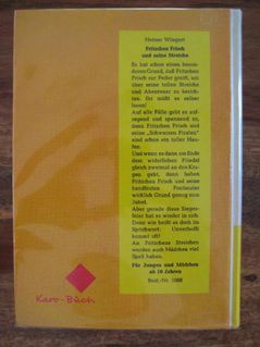 """Schönes Kinderbuch """"Fritzchen Frisch und seine Streiche"""" von Heiner Wingert in sehr gutem Zustand; 144 Seiten; ISBN: 3483010882; 4,- € - Unterleinleiter"""