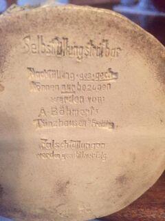 figürliche Keramik Schnapsflasche A.Böhmert - Seefeld (Bayern)
