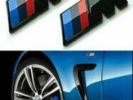 2X BMW M Embleme Kotflügel Matt Schwarz Selbstklebend Logo Tuning - Dortmund Wickede