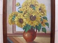 Original Ölgemälde Bild Sonnenblumen signiert Ludolph Vintage alt 129,- - Flensburg