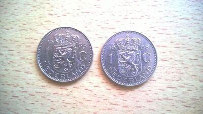 2x1 Gulden 1968 Niederlande ,Lot 100 -