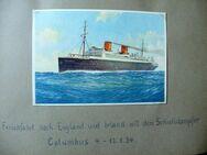 Einzigartiges Foto-Postkartenalbum über eine Reise auf dem Schnelldampfer Columbus  nach England und Irland 1934 - Niederfischbach