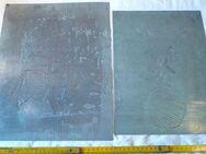 alte Druckplatten, Kunstdruck, floral - Flensburg
