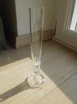 Kristall Glas Vase Solifleur 20 cm Orchideenvase Stangenvase Deko