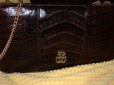 Krokodilleder Abend-Handtasche - Zell (Fichtelgebirge)