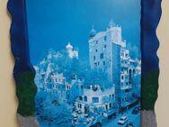 sehr schönes Bild Wandbild in handbemaltem Rahmen - Regenstauf