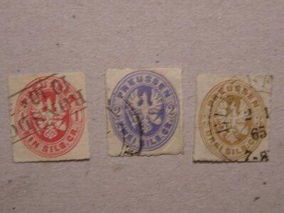 AD-Preußen 1-3 Sgr.,1861,Mi.DE 16-18,  Lot 589 -