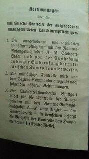 Ersatz Reserve Militärpass Kabinettfoto - Overath