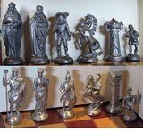 Schach Schachspiel Zinn Figuren Römer und das Mittelalter