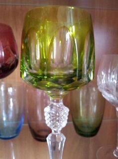 6 alte Römer Gläser Bleikristall 20cm Vitrinengläser Sammlergläser - Plettenberg