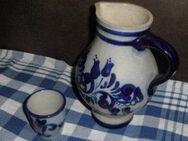 Blau Keramik Steingut  Rustikal Weinkrug Becher Drei Bierkrüge - Bottrop