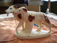 Porzellan/Keramik-Windhunde,Alt,Boden 37672 Nummer,ca. 24x16 cm - Linnich