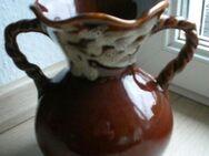Keramik Vase 20 cm Blumenvase Henkelvase braun Deko Vintage Retro 3,- - Flensburg