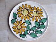 Zeller Keramik Schmider Lilo Tortenplatte Blumen Platte rund 30 cm Vintage Retro 7,- - Flensburg