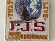 orig weiss Parajumpers PJS Patch Aufnäher Mantel Jacke Long Klett Logo Emblem - Nienburg (Weser)