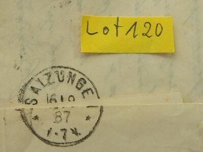 Deutsches Kaiserreich  Briefumschlag 1887mit Briefmarken,Lot 120 -